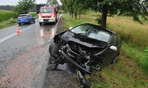 Kilka kolizji i potrącenie pieszej- pogoda nie sprzyjała kierowcom