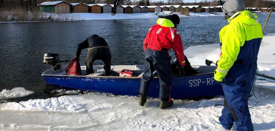 Grupa Specjalna Płetwonurków RP szukała zaginionej mieszkanki Pisza